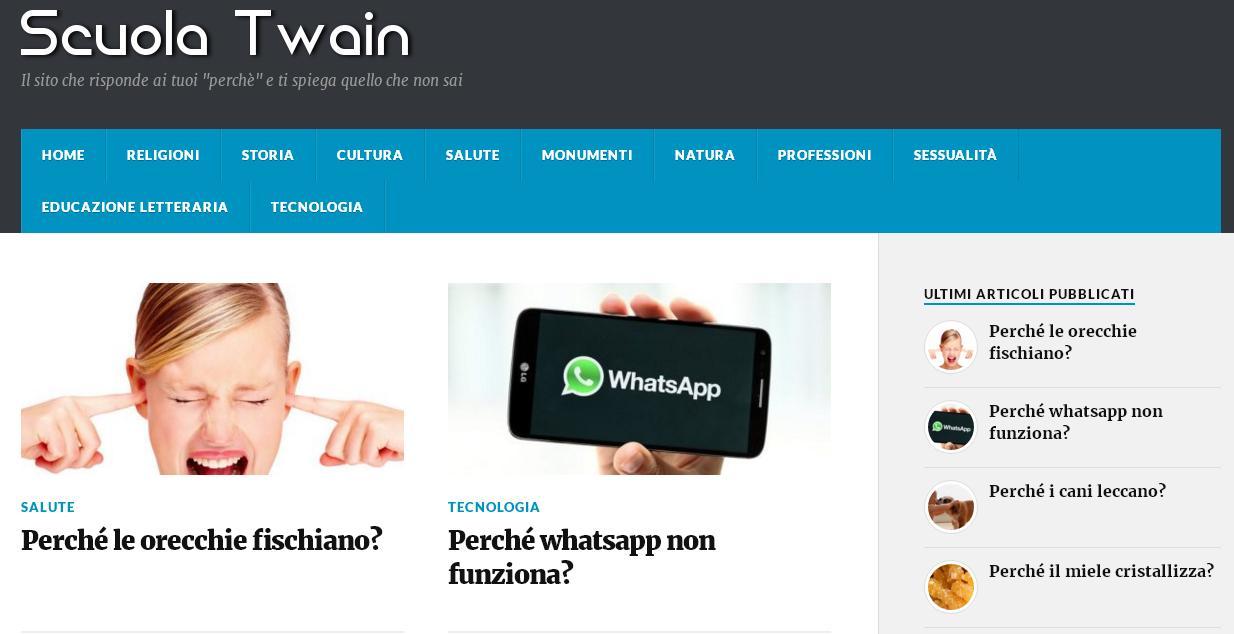 Scuola Twain: imparare qualcosa in più grazie ad un sito